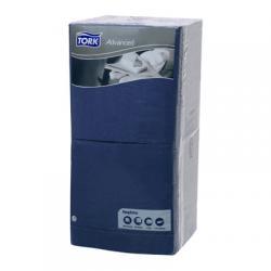 Бумажные салфетки Tork 33x33, 3 слоя, синий цвет