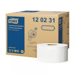 Туалетная бумага Jumbo в мини-рулонах Т2, 170 м, 2 сл