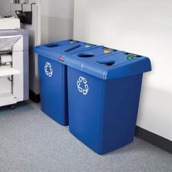 Урна Rubbermaid Glutton для сортировки мусора, 348 л