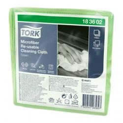 Салфетки Tork Microfiber Re-Usable Cleaning Cloth, зеленый