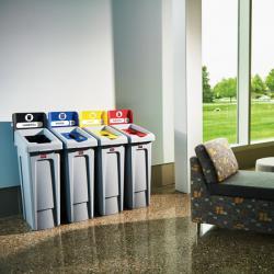 Система из 4 контейнеров для сортировки мусора Rubbermaid 2057732