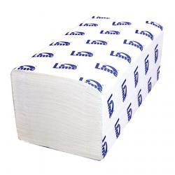 Листовые полотенца Lime, белый цвет, V-укладка 210650
