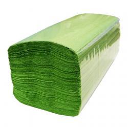 Листовые полотенца V-укладки Lime, зеленый, однослойные 210850