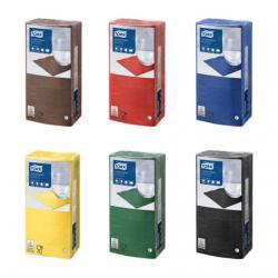 Барные салфетки Tork 24x24, 2 слоя, разные цвета