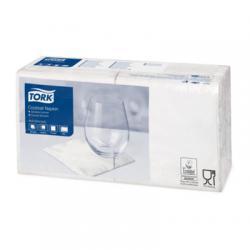 Сервировочные салфетки Tork 24x24, 2 слоя, цвет белый