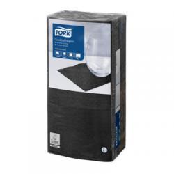 Барные салфетки Tork 24x24, 2 слоя, цвет черный