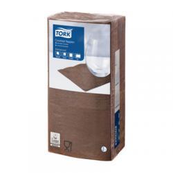 Барные салфетки Tork 24x24, 2 слоя, цвет шоколад
