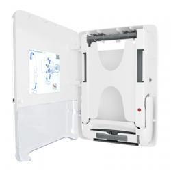 Мини-диспенсер Tork PeakServe для листовых полотенец 552550, белый