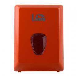 Оранжевый диспенсер Lime 916002 для туалетной бумаги в пачках V-сложения