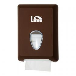Коричневый диспенсер Lime для туалетной бумаги в пачках