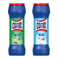 Чистящий порошок Comet с дезинфицирующими свойствами