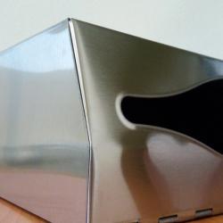 Диспенсер из нержавеющей стали для листовых полотенец