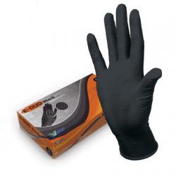 Хозяйственные нитриловые перчатки E-DUO Black
