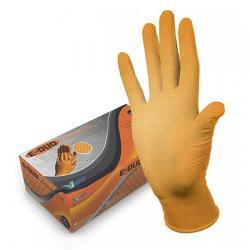 Хозяйственные нитриловые перчатки E-DUO Orange