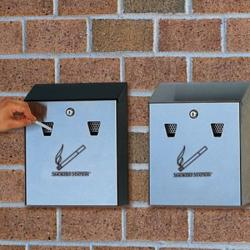 Настенная пепельница Rubbermaid Smokers Station FGR1012SS