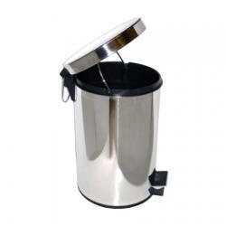Ksitex GB-12L - педальная урна для мусора 12 л, хром