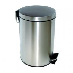 Ksitex GB-5L(M) - педальная урна для мусора 5 л, матовый хром