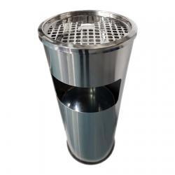 Ksitex GBA-20L уличная урна-пепельница, 20 л, хром