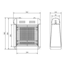 Схема ловушки для насекомых Jofel AJ22510