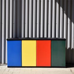 Урна для сортировки мусора Титан Квартет 4 секции 320 л
