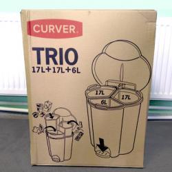 Урна для сортировки мусора Rubbermaid Trio Pedal Bin R050509
