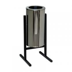Урна Титан уличная, зеркальная нержавеющая сталь, 25 л