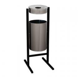 Урна-пепельница Титан СтритЛайн, 36 л, цвет хром