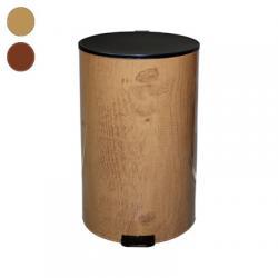 Металлическая урна с педалью Титан, 40 л, бук