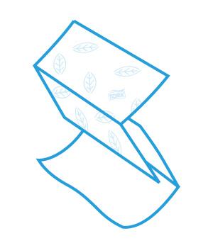 Бумажные полотенца V-укладки