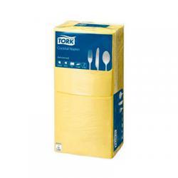 Сервировочные салфетки Tork 24x24 см, цвет желтый